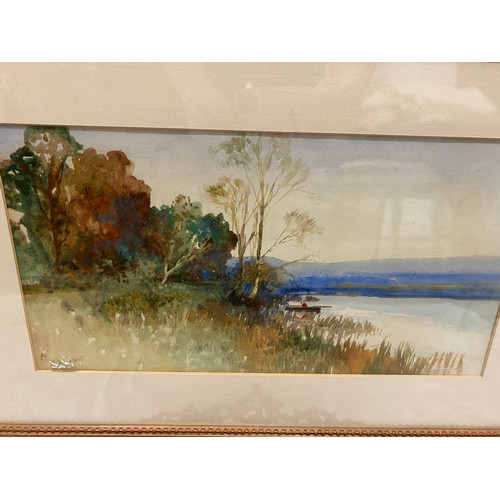 2 - J. Shapland.  A watercolour entitled Near Hackney On The Teign, mounted, framed and glazed - 9in. x ...