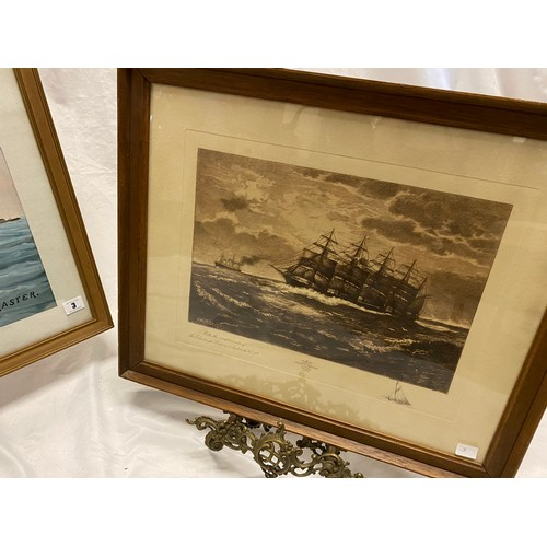 3 - W. Cox Masters.  A signed watercolour - Tanrerton Tower Feversham, mounted, framed and glazed - 21 1...