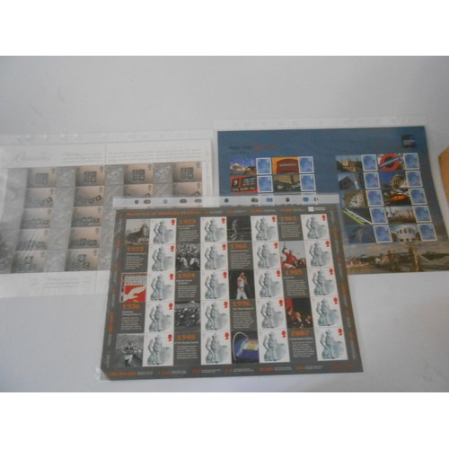 13 - Eleven sheets of stamps including Hello From Royal Mail, Letters From The Front, We Will Remember Th...