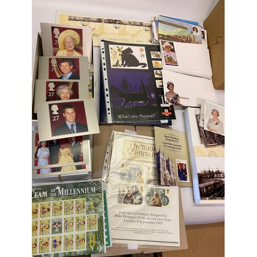 15 - A quantity of stamp cards, First day cancellations, First Day covers, two empty stamp albums, folder...