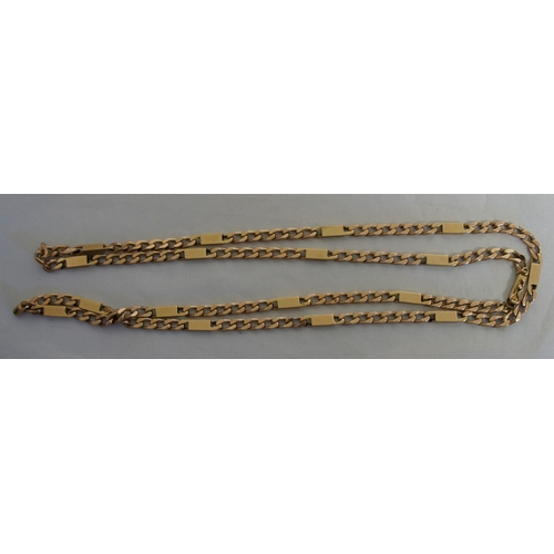 44 - A 9 carat  gold necklace, weight 46 grams....