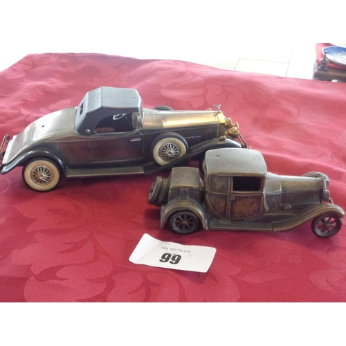 Vintage, FAL Italy 1928 Bugatti Tipo solid brass model car