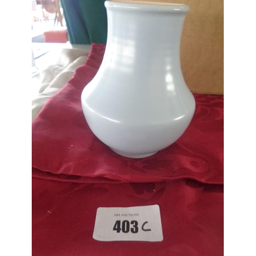 Poole Pottery Classic Baluster Shape Vase Glazed In C100 Peach