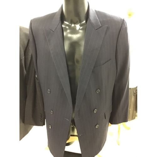 Pair Of Pinstriped Suits One By Holland And Sherry Saville Row 42 Austin Reed 38r