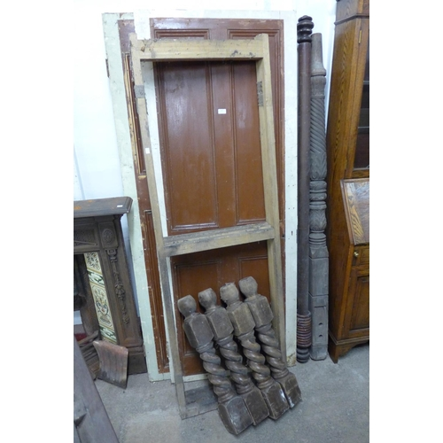 341 - Three doors, a bed post, table legs, etc....