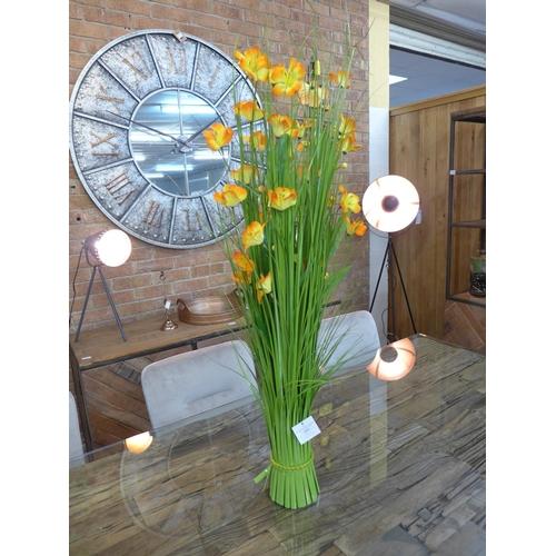 1483 - A 100cm grass sheaf of orange flowers (2360215)   #...
