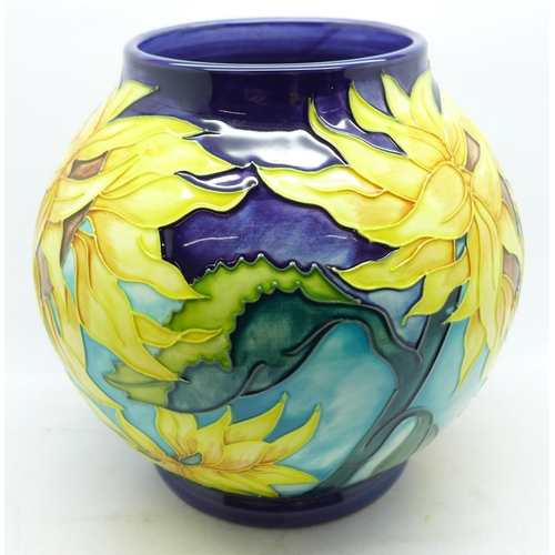 611 - A Moorcroft Topeka globular limited edition vase, designed by Jeanne McDougall, dated 2000, numbered...