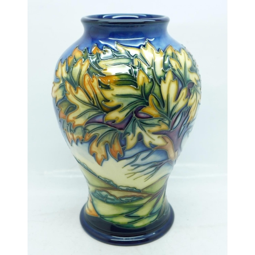 616 - A Moorcroft Wenlock limited edition vase, designed by Philip Gibson, dated 2001, numbered 156/200, 1...