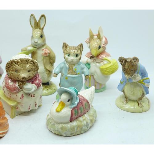 627 - Eleven Royal Albert Beatrix Potter figures...