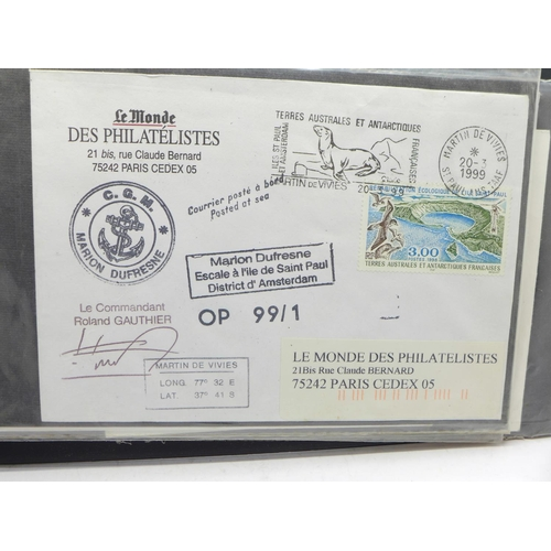 642 - Stamps:- Arctic and Antarctica postal history, 44 covers including signed...