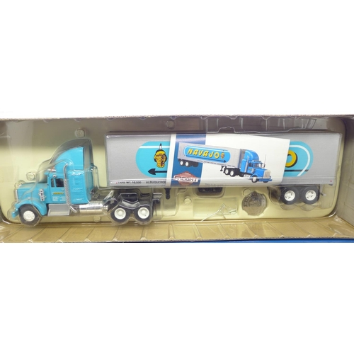 651 - Corgi limited edition Kenworth W925 Semibox container, Navajo, and limited edition Knights of Old 50...