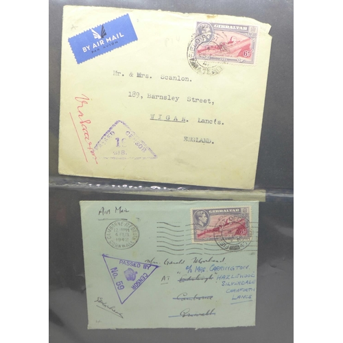 657 - Stamps:- Gibralter postal history and First Day Covers (46 covers)...