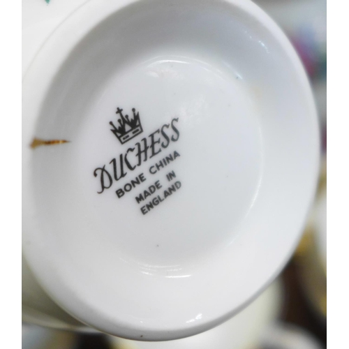 658 - Two china tea services, Royal Albert Silver Maple and Duchess...
