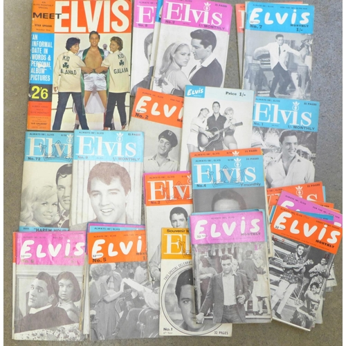 662 - Elvis Presley monthly magazines...