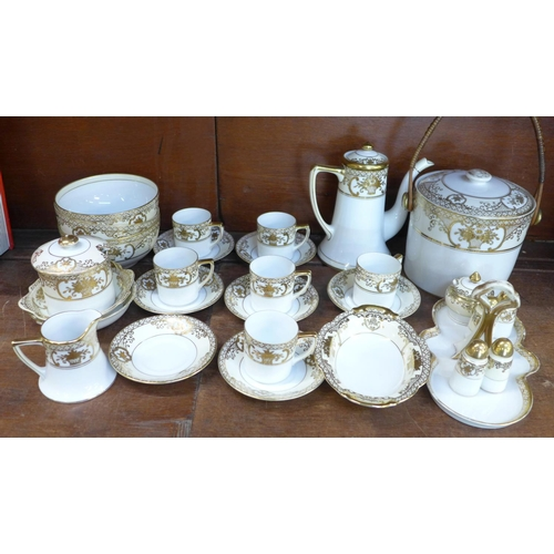 663 - A collection of Noritake coffee and tea wares...