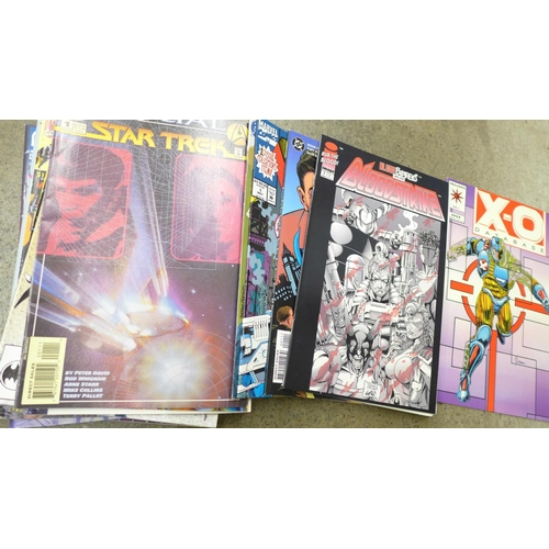 705 - A collection of DC and other comics including Batman...
