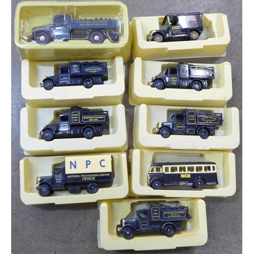 752 - A collection of Coal Board related model vehicles, boxed...