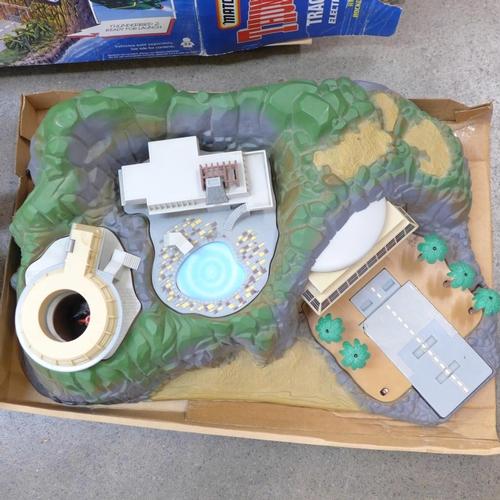 755 - A Matchbox Thunderbirds Tracy Island and a large model of Thunderbird 2...