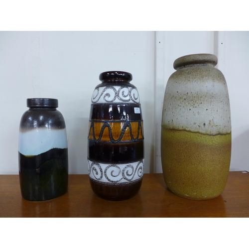 105 - Three West German glazed vases...