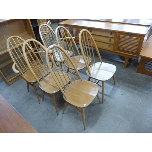 107 - A set of six Ercol Blonde chairs...