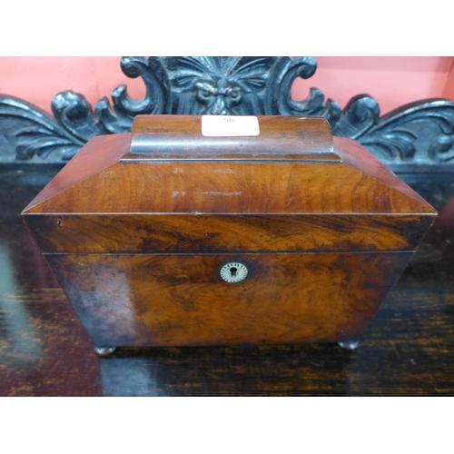 56 - A 19th Century mahogany tea caddy...