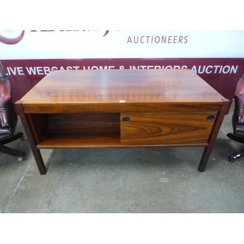 95 - A Danish Christian Linneberg rosewood desk, accompanied with CITES A10 certificate, no.589462/01...
