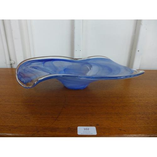 96a - A coloured glass centrepiece...