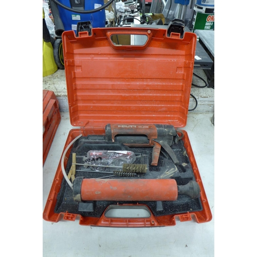 2005 - Hilti MD2000 manual resin dispenser gun and case - W...