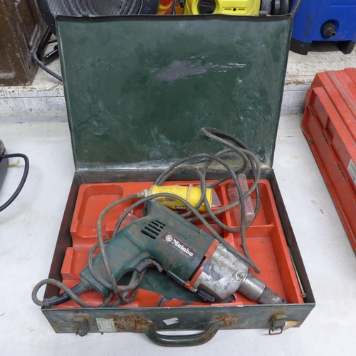 2008 - Metabo 110v drill in case, a/f...