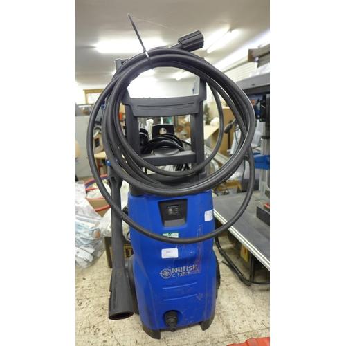 2011 - Nilfisk C120.7 pressure washer with hose, lance and bottle sprayer - W...
