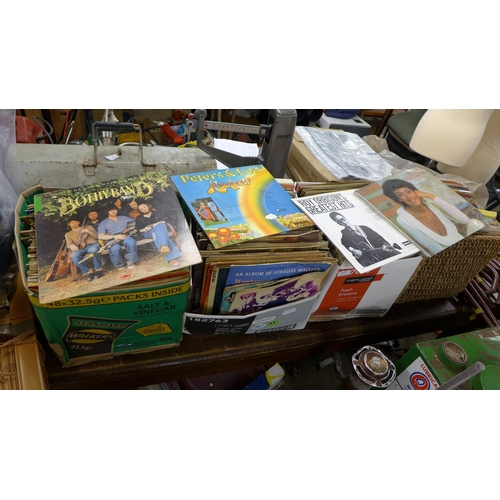 2054 - 4 boxes of LP records plus a few box sets - LP's include Billy Fury, Blondie, John Lennon & The Plas...
