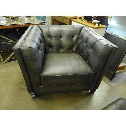 1315 - A Richmond leather one seater sofa (Vintage Flint)  *This lot is subject to vat...