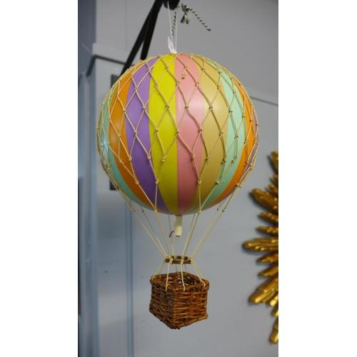1325 - A pastel rainbow hot air balloons mobile (AP161F19)   #...