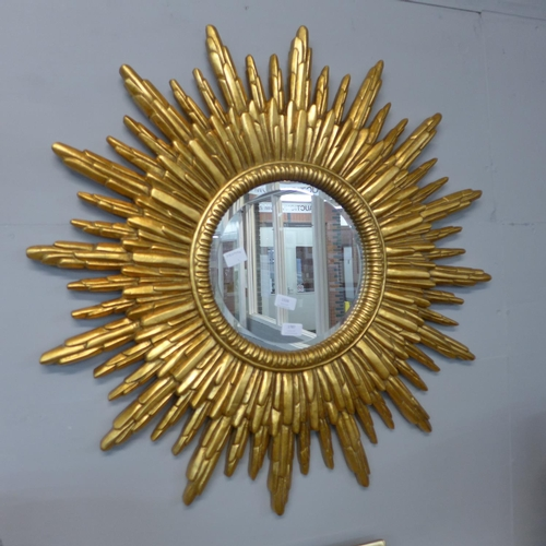1326 - A gilt sunburst mirror (M10058)   #...
