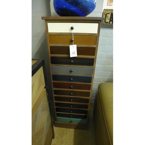1331 - A multi-coloured thirteen drawer chest (76-09273)   #...