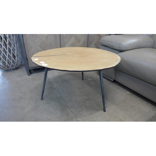 1338 - An oak sliced veneer coffee table...