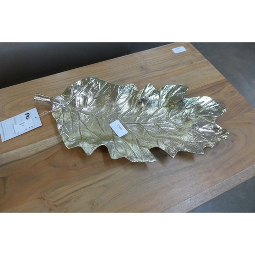 1346 - A gold leaf metal platter (70-60210)   #...