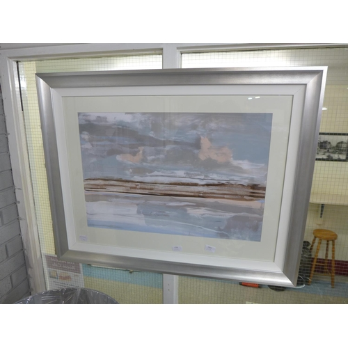 1354 - A framed print, Taupe Sands, by Soozy Barker, 60 x 80cm (1328G50)   #...
