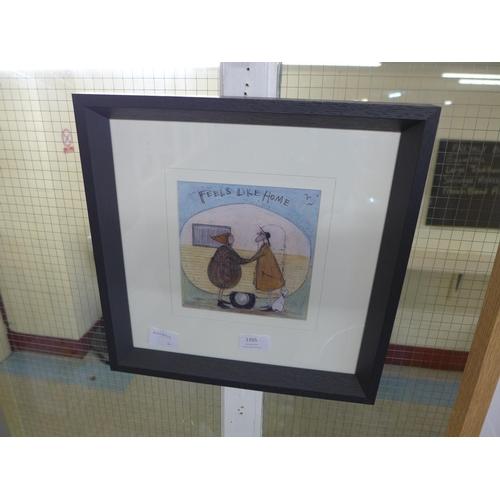 1355 - A framed print, Feels Like Home, by Sam Toft, 30 x 30cm (399G13)   #...