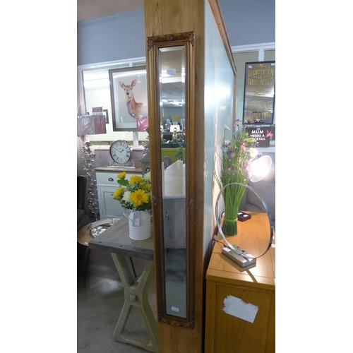 1416 - A slim gilt wall mirror (1534020)   #...