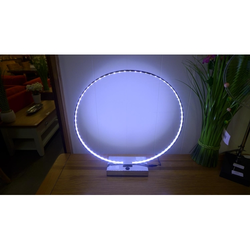 1418 - A chrome LED circular lamp (LW55719)   #...