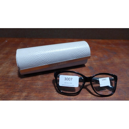3007 - A pair of Jimmy Choo glasses with case  *This lot is subject to vat...
