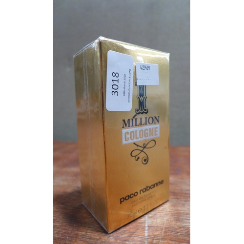 3018 - A Paco Rabanne 1 Million 75ml Cologne 223161/71  *This lot is subject to vat...