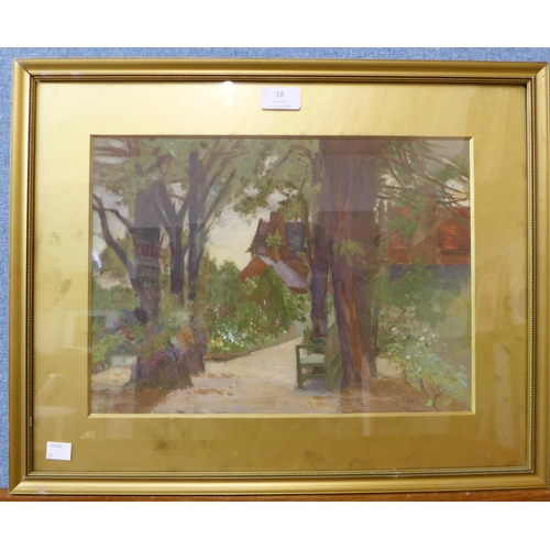7 - Samuel Parr, The Elms, Wilford, oil on board, dated 1916, 27 x 37cms, framed...