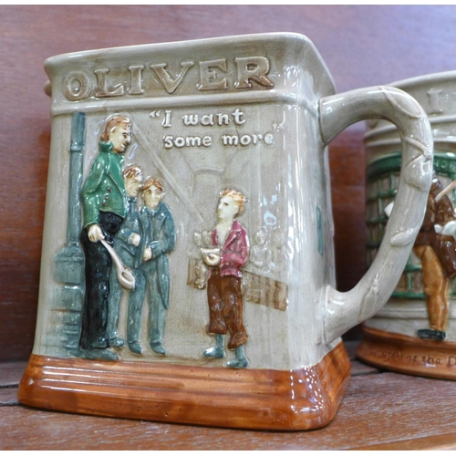 601 - Six Royal Doulton Charles Dickens character jugs, one a/f
