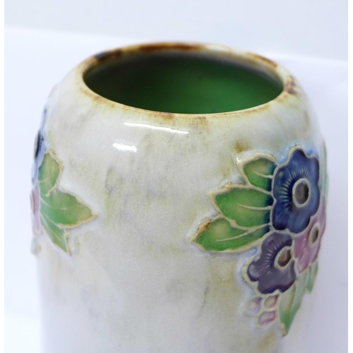 607 - A Royal Doulton vase, with impressed marks to base, With the compliments of the Master and Brethren ...
