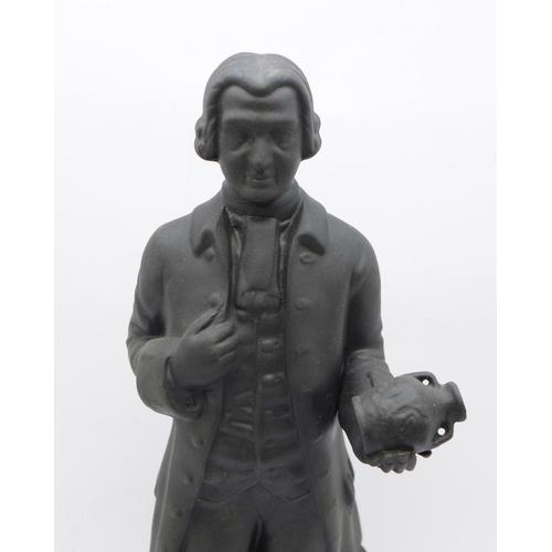 621 - A Wedgwood black basalt figure of Josiah Wedgwood, 23cm...