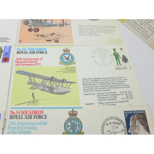 657 - Royal Air Force Anniversary 1st day covers, etc. (10)