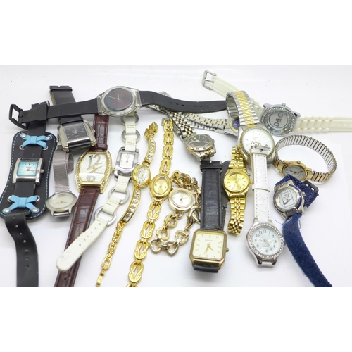 661 - Lady's and gentleman's wristwatches...