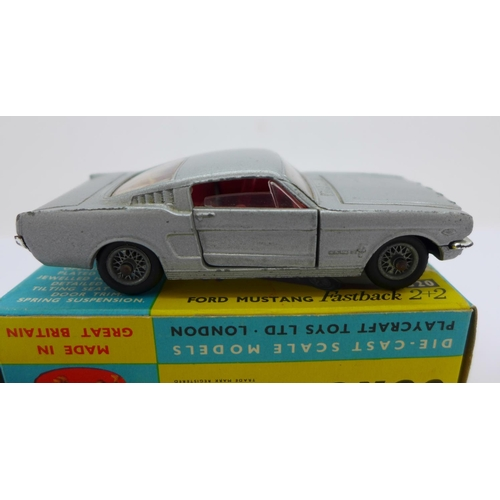 815 - A Corgi Toys 320 Ford Mustang Fastback 2+2, boxed...